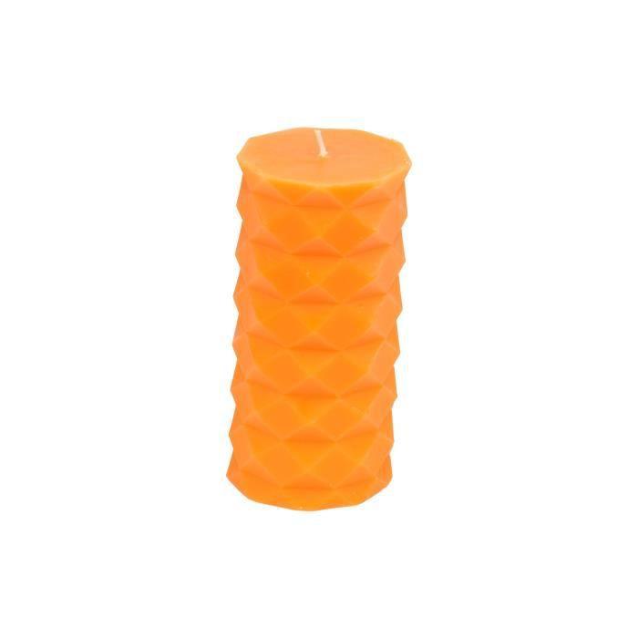Bougie pilier - Hauteur 13.8 cm - Orange