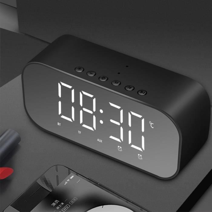 Yayusi S5 Basse Stéréo Bluetooth Sans Fil Miroir Haut-parleur Supporte L'horloge_r1864