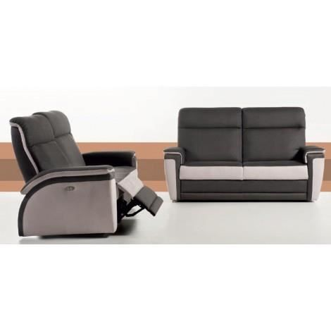 0b7f3ef3295412 Canapé de relaxation 3 places 100% cuir WILLY a… - Achat   Vente ...