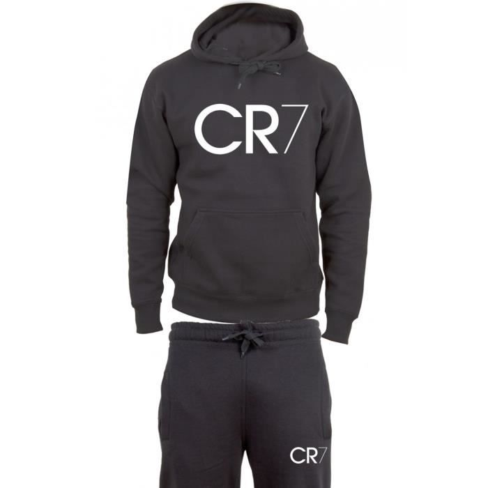 cr7 surv tement jogging coton noir noir achat vente surv tement black friday le 24 11. Black Bedroom Furniture Sets. Home Design Ideas