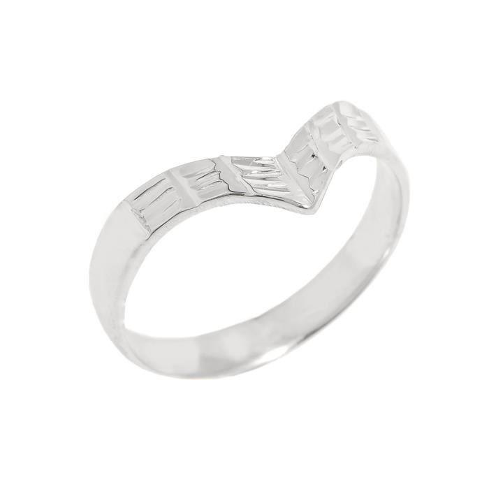 Bague Femme Argent Fin 925/1000 Diamant Coupe pouce