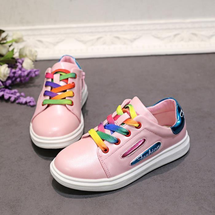 Baskets Chaussures Bébé et Enfant Fille Rose pByWit