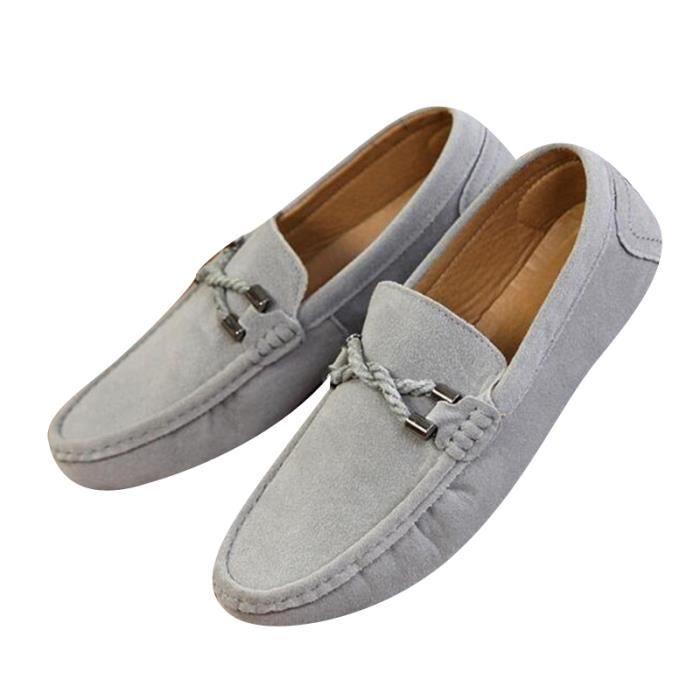 Mocassins Hommes Printemps Ete Leger Mode Chaussures BDG-XZ077Gris43 bP8nLXP
