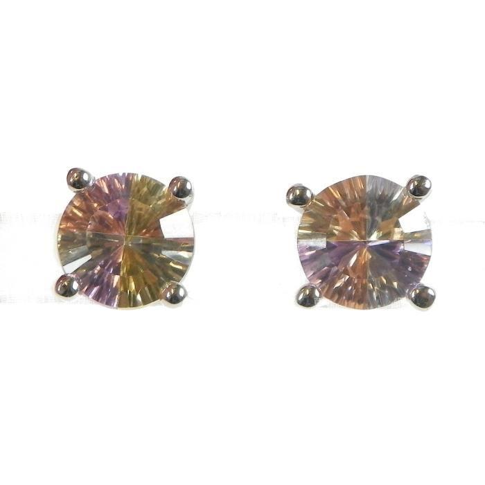Orphelia Boucle doreille arc-en-Collection Argent 925 multi-couleur-47 zircons Cc 1AF8U5