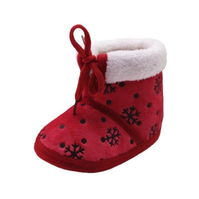 BOTTE Toddler nouveau-né bébé bébé neige impression doux semelle bottes Prewalker chaussures chaudes@RougeHM