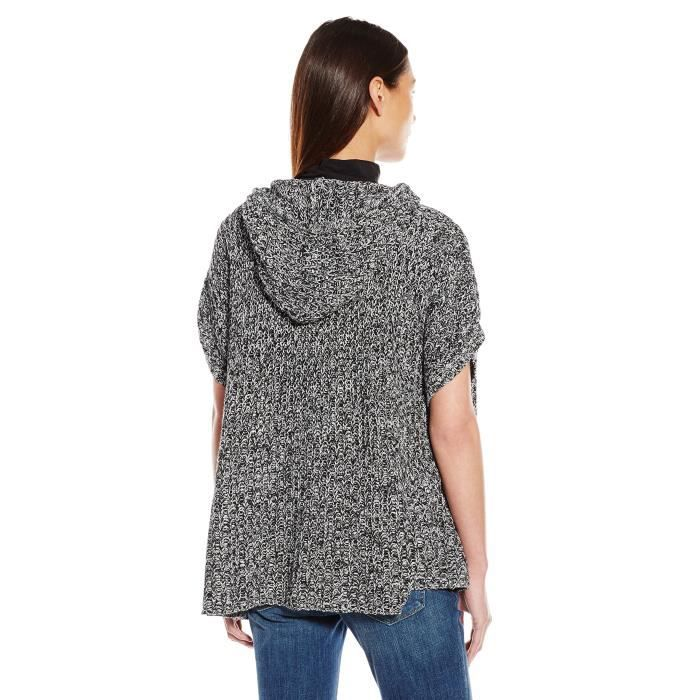 Womens Taille 38 Poncho Marled W885t Sweater Hooded 46xu4hqr