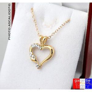 67b06fc0ea ... SAUTOIR ET COLLIER Collier pendentif coeur plaqué or et brillants. ch.  ‹›
