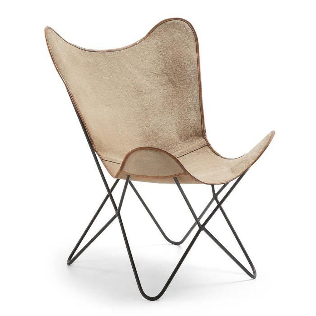 livraison gratuite 71a22 c2d05 Fauteuil Fly, toile beige - Achat / Vente fauteuil - Cdiscount