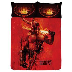 HOUSSE DE COUETTE SEULE Hellboy Double housse de couette et taie d'oreille