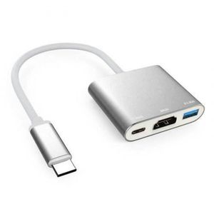 ADAPTATEUR AUDIO-VIDÉO  Adaptateur AV Vidéo Type C a HDMI, USB 3.0 y Type