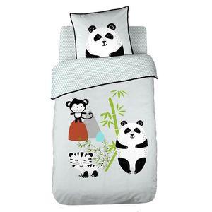 PARURE DE COUETTE COTE DECO KIDS Panda Housse de Couette 100% Coton