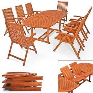 Table de jardin bois avec rallonge - Achat / Vente pas cher