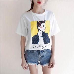 Coton Été Manches Hipster Shirts Mode Chemises Femme T Courtes Fille qCgaWE