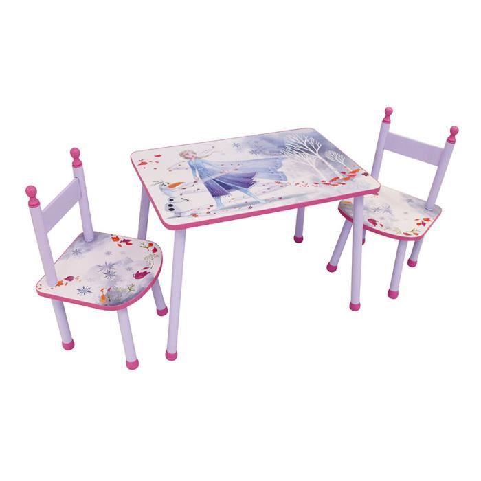 FUN HOUSE REINE DES NEIGES table + 2 chaises pour enfant