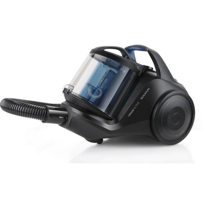 TAURUS Virage Active Aspirateur balai - 800 W - Capacité 2 L - Bleu et noir