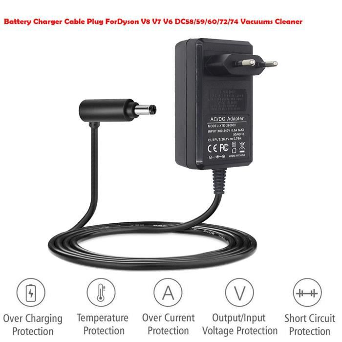 new york wholesale outlet 100% genuine Chargeur de batterie câble allume-cigare ForDyson V8 V7 V6 DC58 -  59-60-72-74 Aspirateurs propres de l'UE_de8345
