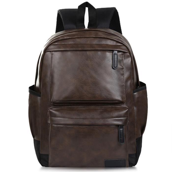 Voyage pour hommes Brown Sac à Sac dos hommes portable en ordinateur dos à dos School pour cuir Bookbag à Sac Vbiger PU les 0wqdBdP