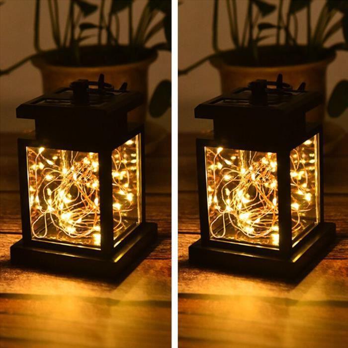 2pcs 30 Led Lampe De Jardin Solaire Lampe Solaire Exterieur