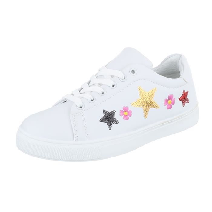 Femme chaussures loisirs chaussures Sneakers Chaussures de sport blanc 41