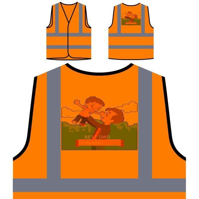 Orange Papa De À Protection Cadeau Veste joyeux Visibilité Haute Personnalisée Pour WaPCnUgH
