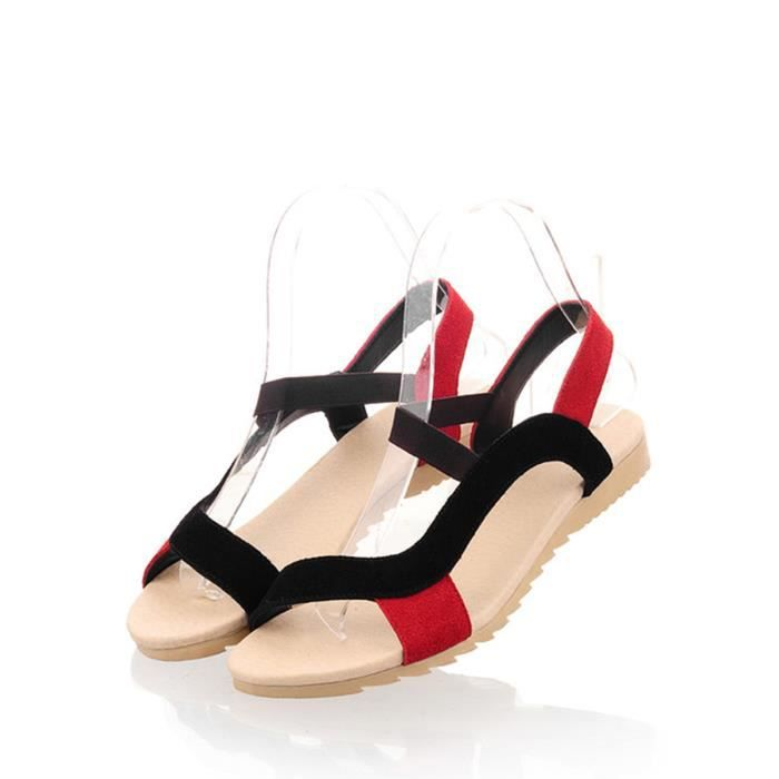 Sandales couleur unie Tassel Chaussures Ornement Strappy 4445260 5zWpF24EBD