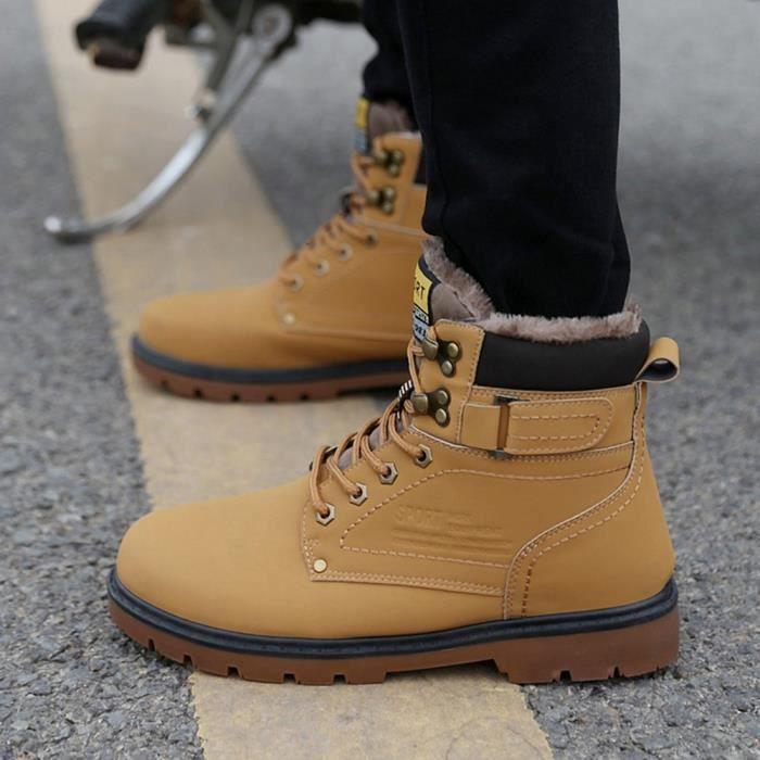 Antidérapants D'homme D'hiver Taille Extérieur L'usure Grande Jaune Martin Outillage À De Résistant Chaussures Bottes f14qw57