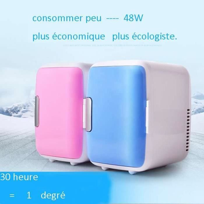 Glacière mini réfrigérateur pour voiture 12V 4L--ROSE