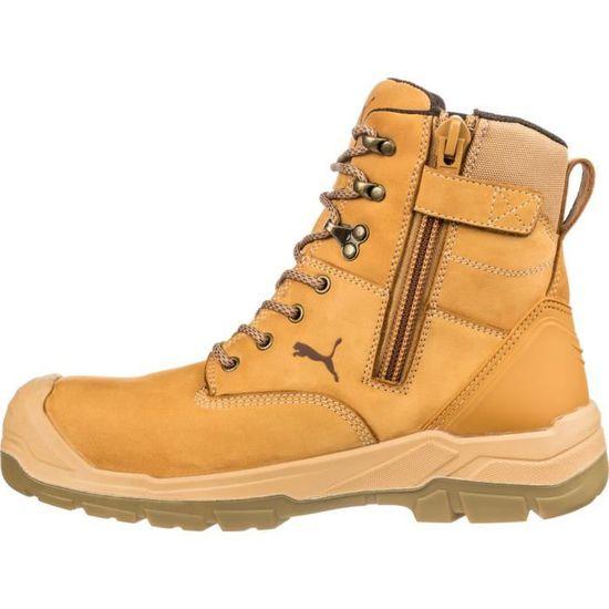 Chaussures de sécurité montantes Puma Conquest Wheat High S3 HRO SRC. Marron 40
