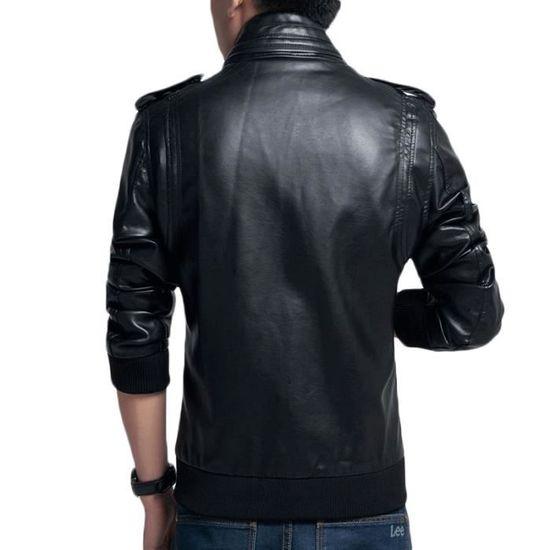 Simili Homme En Masculin Vêtements Veste D'automne Luxe Slim Pu Marque Cuir Vêtement aYETq