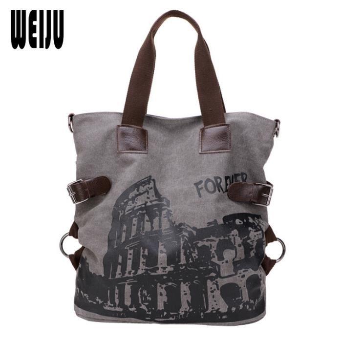 sac à mainFemmes Sac Vintage sac fourre-tout dépaule Casual Big dames Bolsos-1293