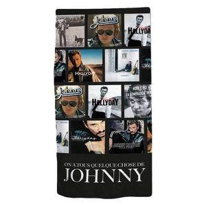 e1f509deb6163 SERVIETTES DE BAIN Serviette de Plage Johnny Hallyday en Coton - kidp