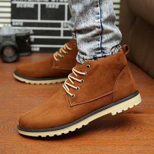Homme Chaussures Marque de luxe 2017 Haut qualité Martin Bottine Confortable Mode Hiver Durable Bottines Hommes Grande Taille ylx200 LnEQFZ