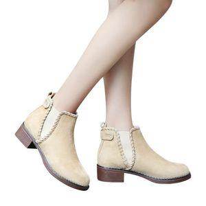BOTTINE Libaib Femmes solides Chaussures Compensées couleu