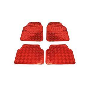 TAPIS DE SOL Tapis de sol alu style carbon rouge auto voiture t