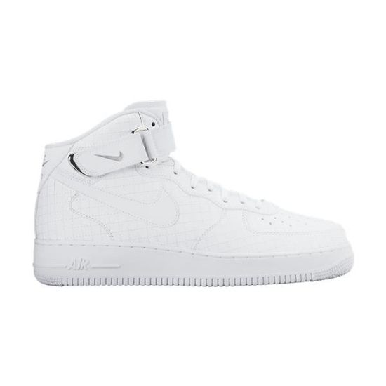 detailed look c3a96 ce56f NIKE AIR FORCE 1 MID 07 LV8 Blanc - Achat   Vente basket - Cdiscount