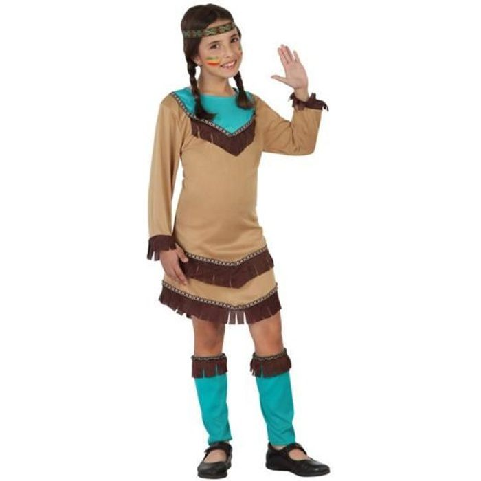 ATOSA Deguisement D'Indienne Fille - Panoplie Enfant - Fille - A partir de 3 ans - Livré à l'unitéDEGUISEMENT - PANOPLIE DE DEGUISEMENT