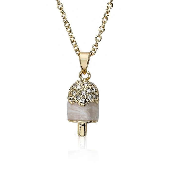 Girls 14k Gold-plated Marbleized Enamel Popsicle Pendant Necklace, 14 Q1IC7