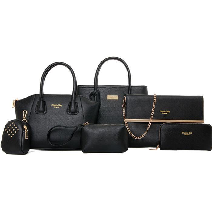 SAC À MAIN Lot de 6 sacs à main noir