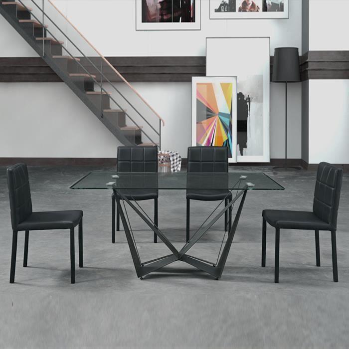 table de cuisine verre achat vente table de cuisine verre pas cher cdiscount. Black Bedroom Furniture Sets. Home Design Ideas
