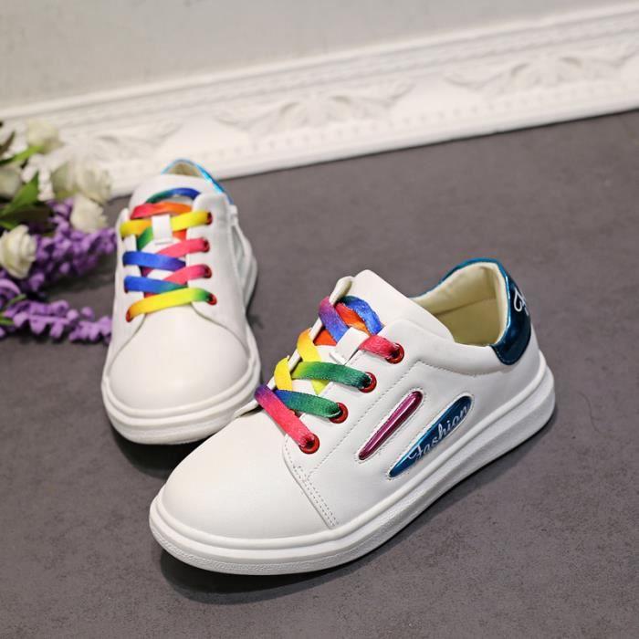 Baskets Chaussures Bébé et Enfant Fille Blanc JueMI