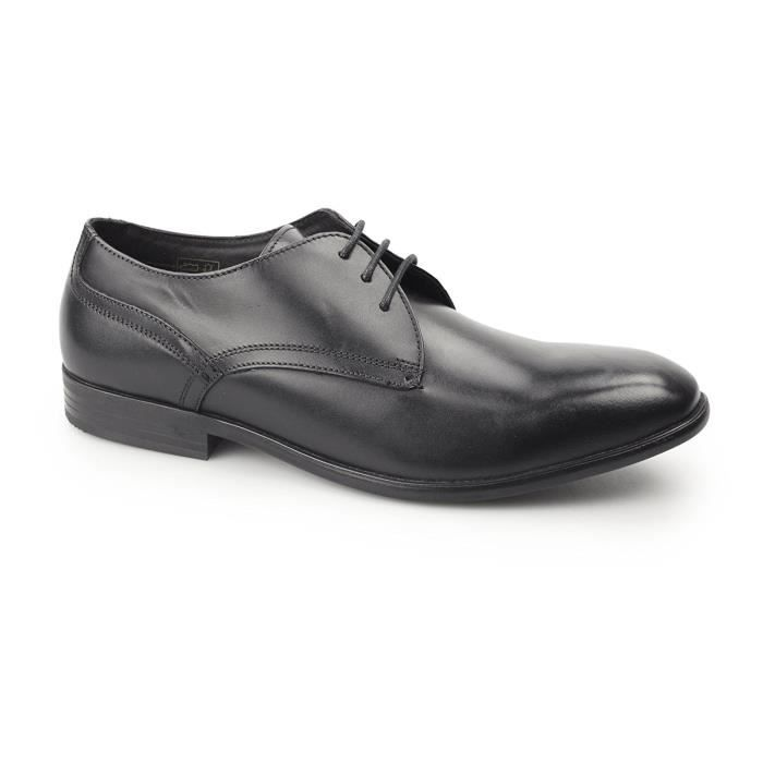 Base London Mens Page Waxy Leather Smart Formal Derby Shoes