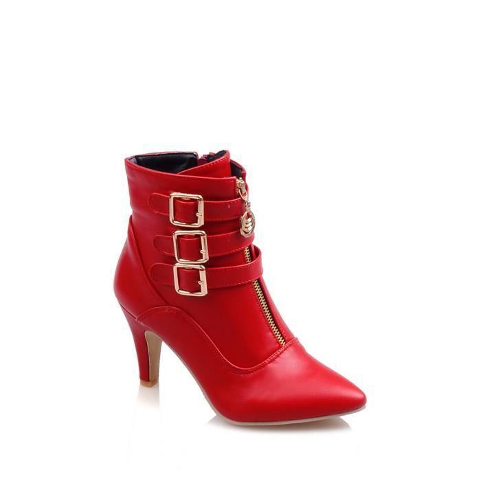 Martin Bottes talon haut bout pointu mince chaussures à la mode féminine 8949008