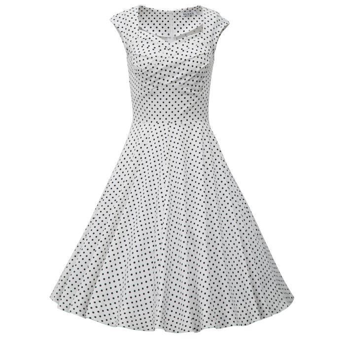 de la femme 1950 Vintage Audrey Hepburn Robe 2C8WL7 Taille-40