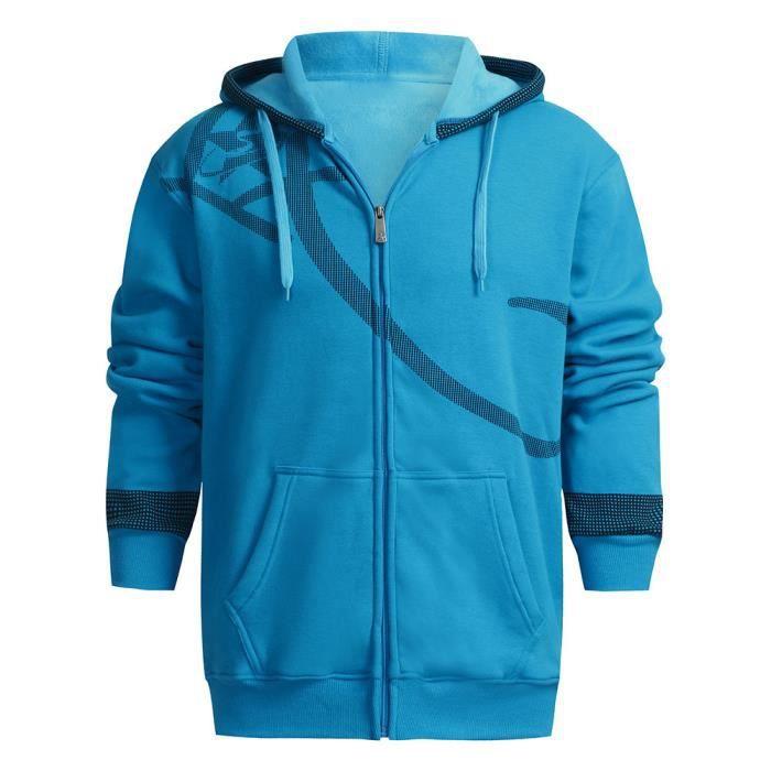 Imprimé Gwl81114502bu Col Épaule Loisirs Hiver Bleu Automne Manteau Homme Casual Veste OfnrOgP
