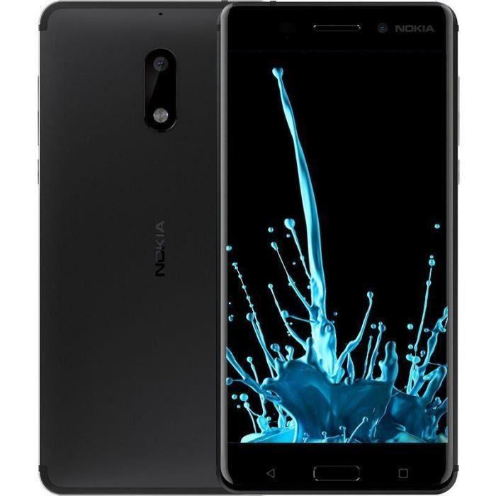 nokia 6 dual sim 4 32 go 5 5 pouces android 7 0 smartphone mobile 4g lte d bloqu mat noir. Black Bedroom Furniture Sets. Home Design Ideas