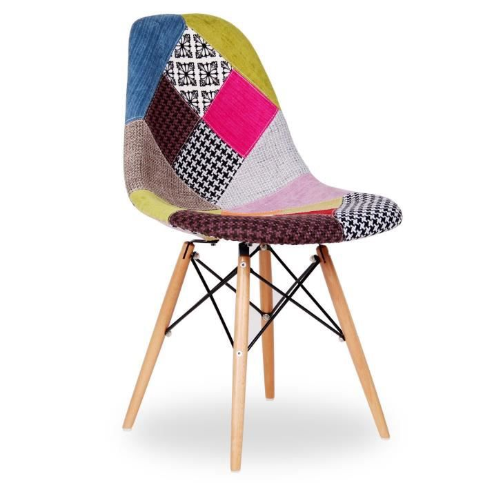 Chaise Wooden Patchwork Edition Unica Achat Vente Chaise