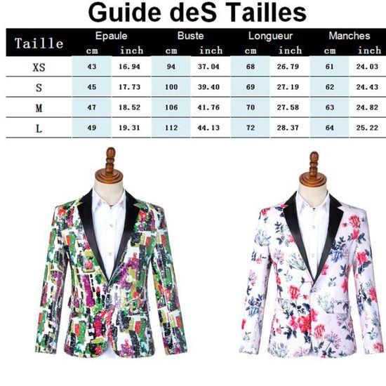 Masculin Marque Couleur Paillettes Revers Mode Vêtement Homme Slim Costume Coupe De Veste Imprimées Tq7UE
