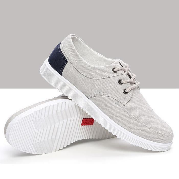 Chaussures En Toile Hommes Basses Quatre Saisons Populaire BMMJ-XZ112Gris39 QVvAGlC