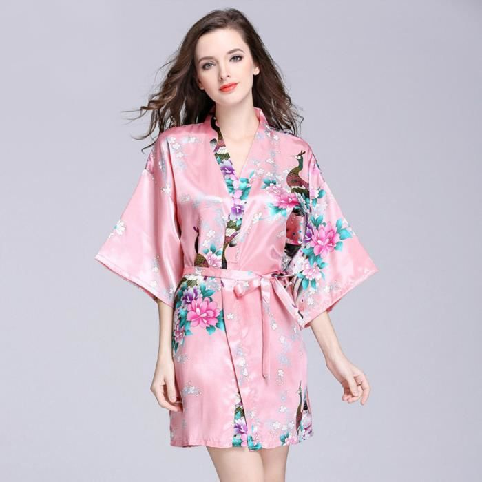 Top nuit Notte Femmes Pastèque Imprimé Rouge En Mi Ont Satin Les Manches Chemisier Pyjama 401XX