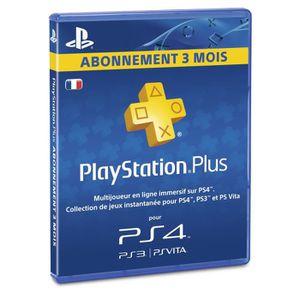 CARTE MULTIMEDIA Abonnement Playstation Plus 3 Mois PS Vita-PS3-PS4
